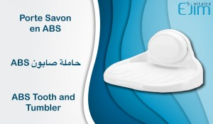 Porte Savon en ABS - ﺣﺎﻣﻠﺔ ﺻﺎﺑﻮﻥ - ABS Tooth and Tumbler